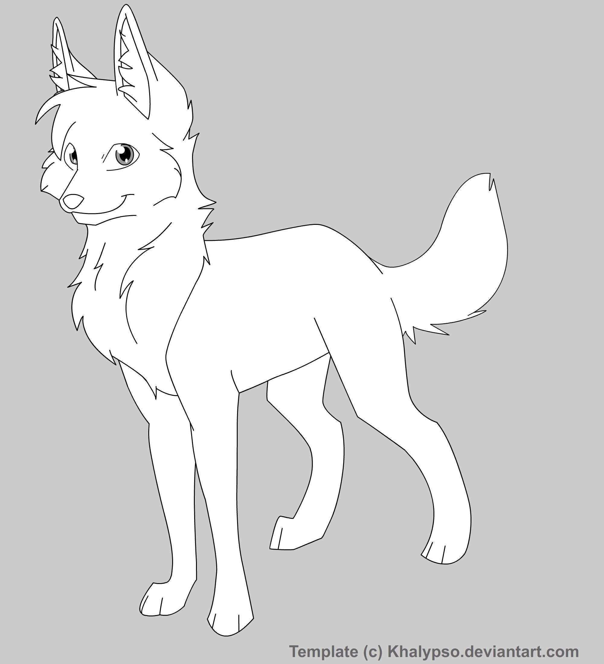 Wolf Template by Khalypso on DeviantArt
