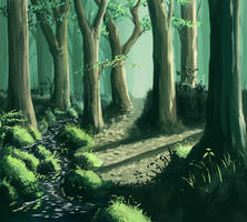 Forest on the imagination by Nonohara-Susu