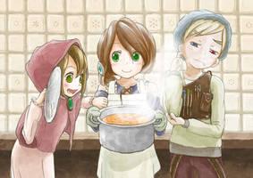 [Original Characters] Elner , Miacia , Liet by Nonohara-Susu