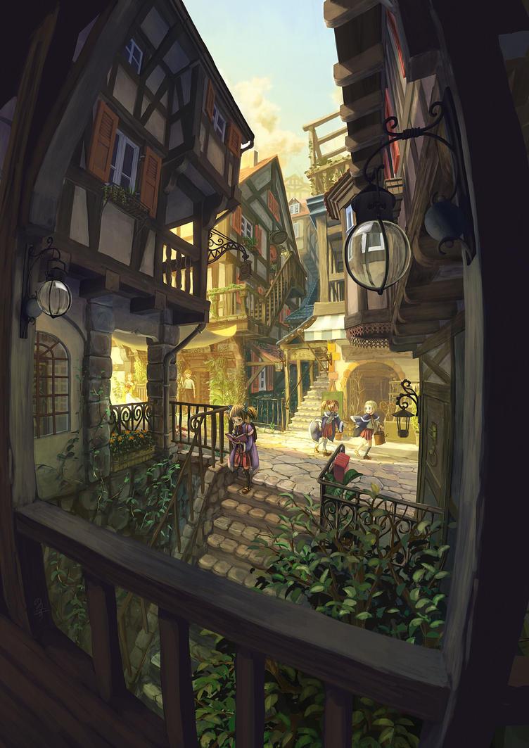 [SVIGNORE] Student street after school by Nonohara-Susu