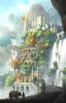 [SVIGNORE] Cliff City -scene of waterfall-