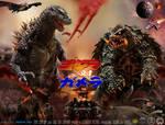 Godzilla vs Gamera Movie Poster