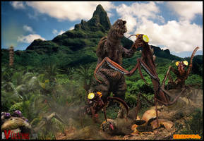 Godzilla: Birthday Ed.5(Death of Minilla) by innocentoVia