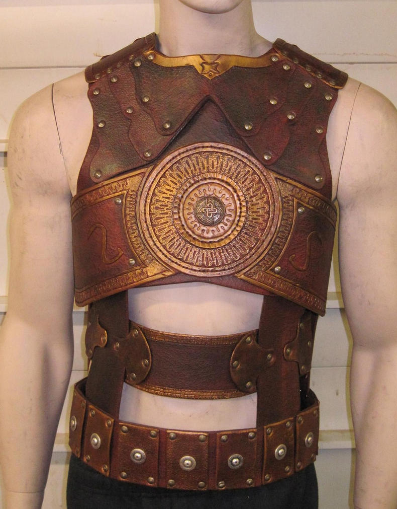 how to make leather body armour