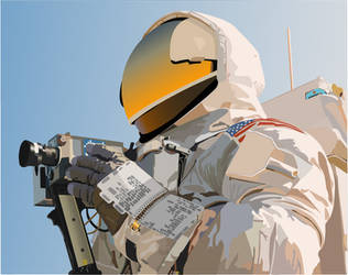 Astronaut With Camera by pantone292