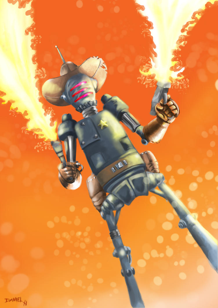 Cowboy Robot by Hammerheadd