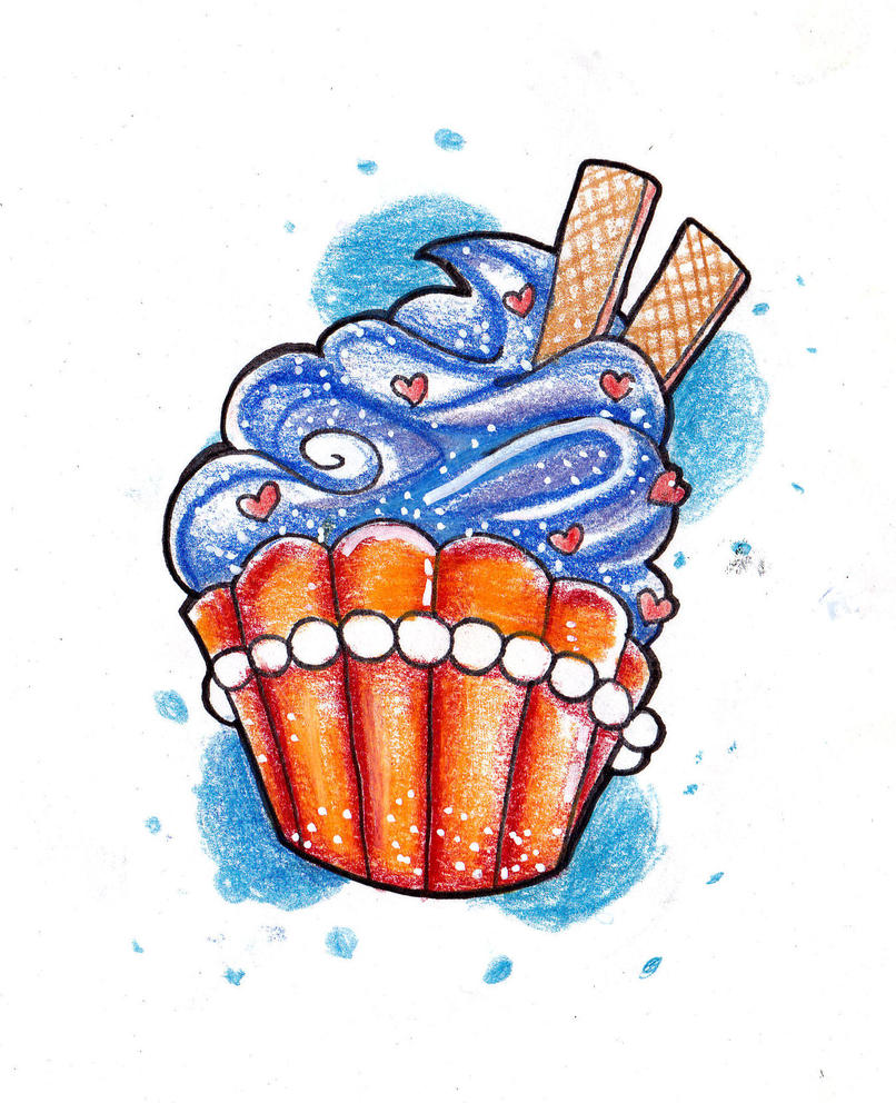 Cupcake Art Design : cupcake by Baitti on DeviantArt