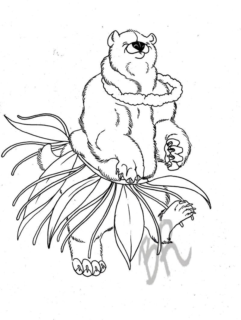 hula bear by baitti on deviantart. Black Bedroom Furniture Sets. Home Design Ideas