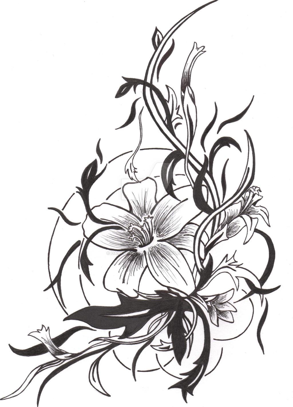 Flower tattoo favourites by femkelannoo on deviantart izmirmasajfo Image collections
