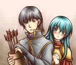 Innes and Eirika (Fire Emblem - The Sacred Stones)
