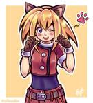 Roll CATskett (Megaman Legends) [Commission]