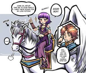 The Prodigy's Pegasus (Lute x Artur) [Fire Emblem]