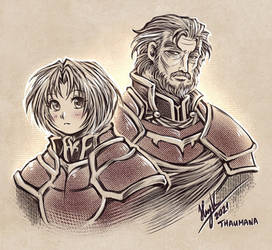 Amelia and Duenell (Fire Emblem The Sacred Stones)