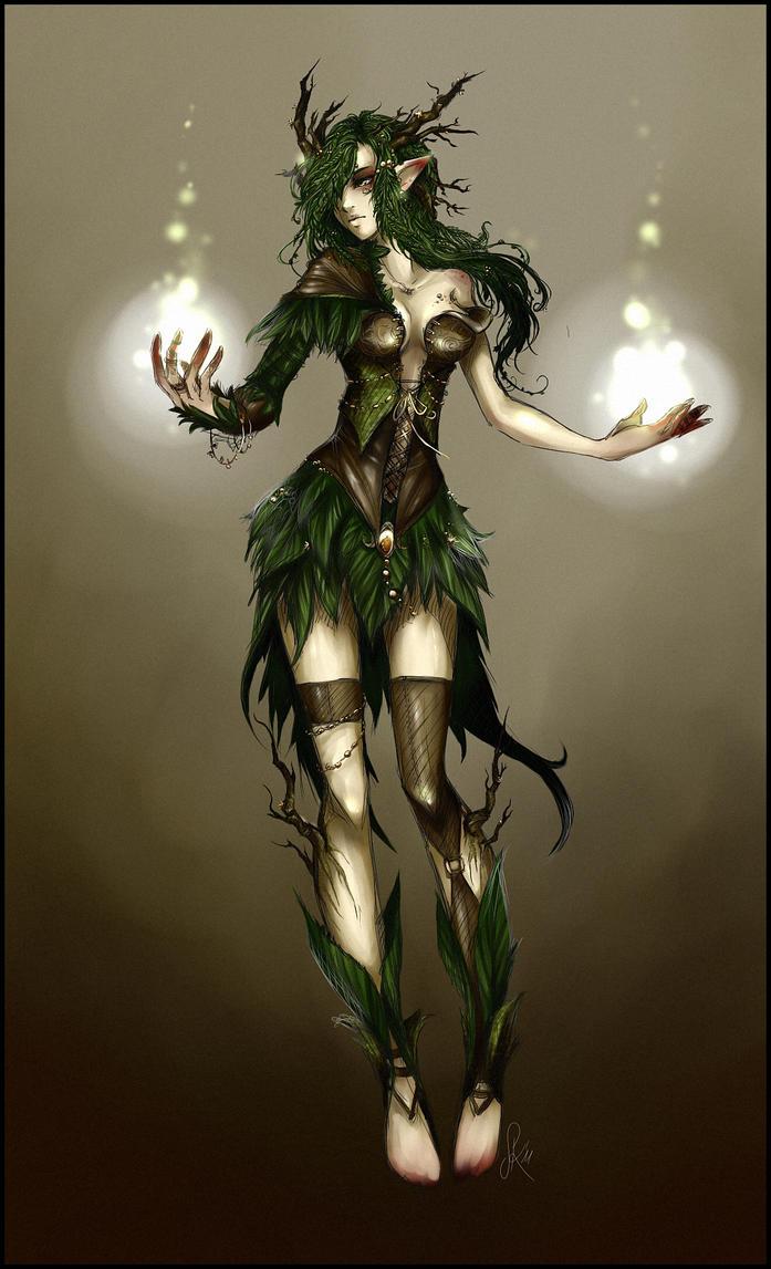 Nildra Character_design___dryad_by_zackichan-d3erajb