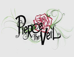Pierce The Veil Logo Roses by mexicourtney