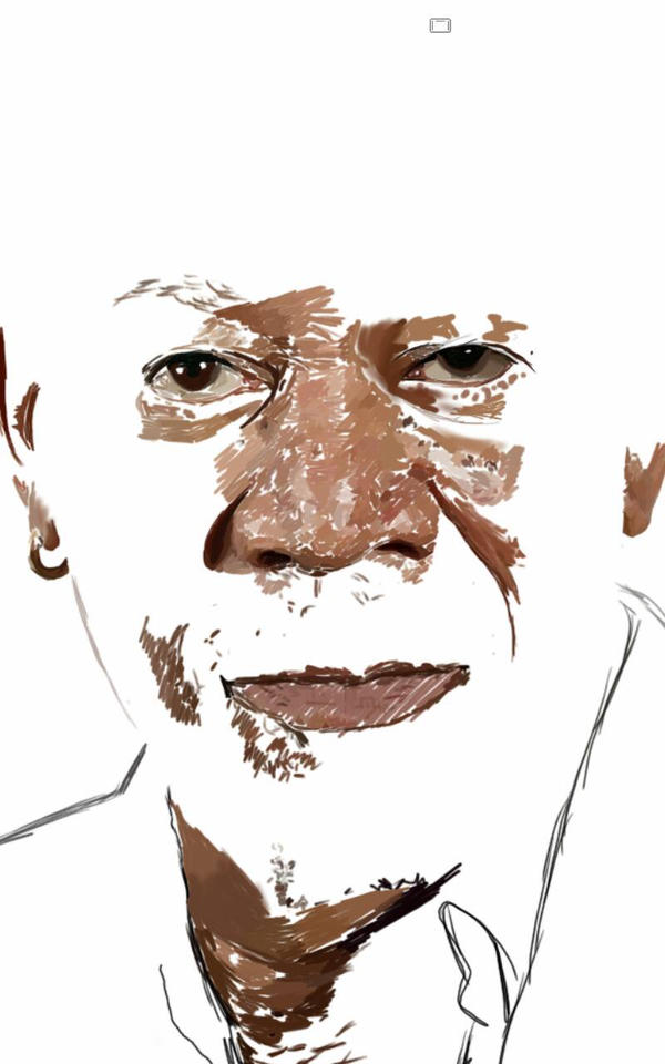 Morgan Freeman w.i.p by Pitaten2