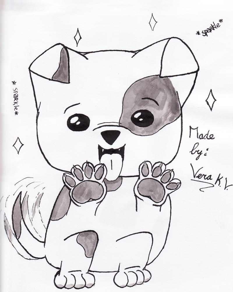 Cute dog drawings - photo#10