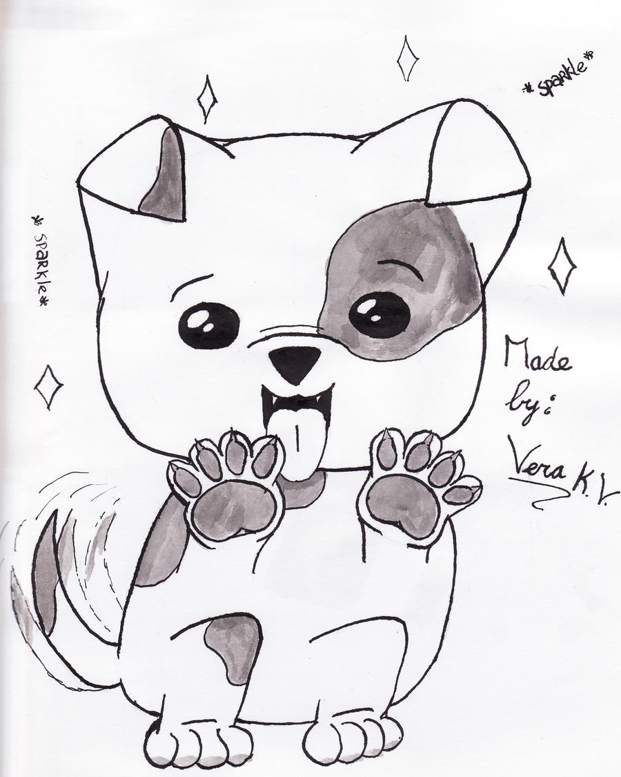 How To Draw Spiderman Step By Step Cute Dog Anime Drawings , Cute Dog By  Kamichamavera