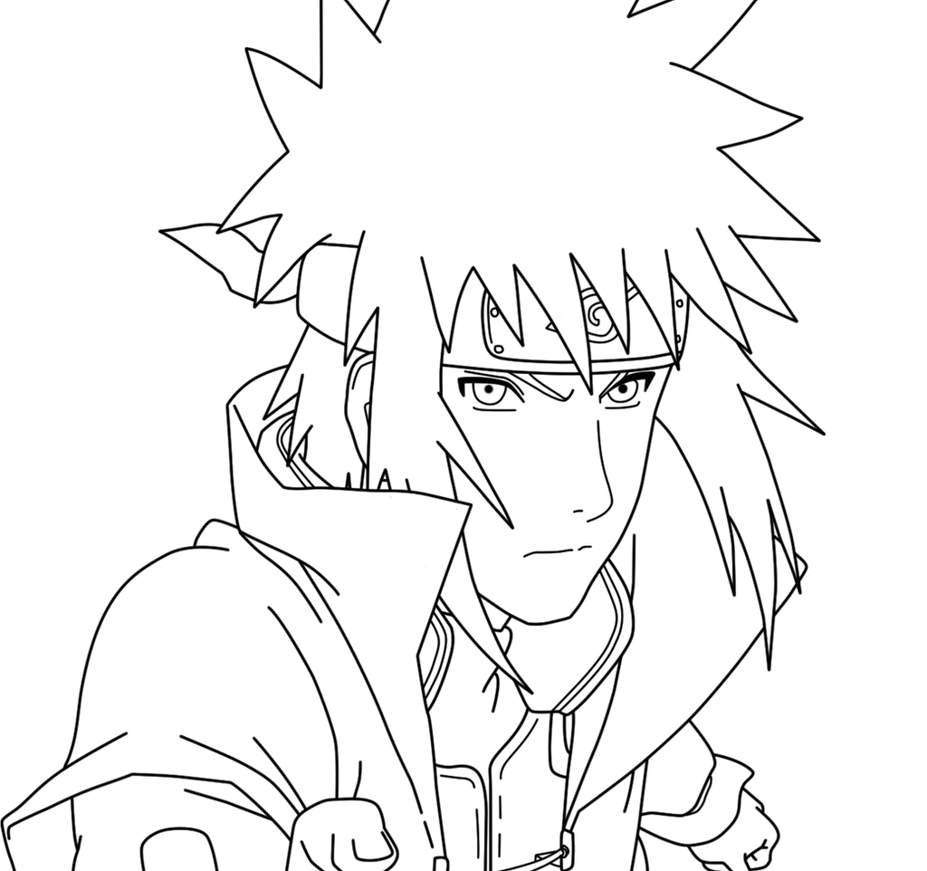 Minato 4th Hokage lineart by Danilo34Ramos on deviantART