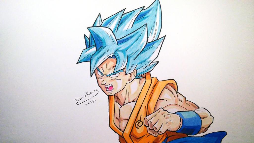 Son Goku Super Saiyan God Blue By Danilo34ramos On Deviantart