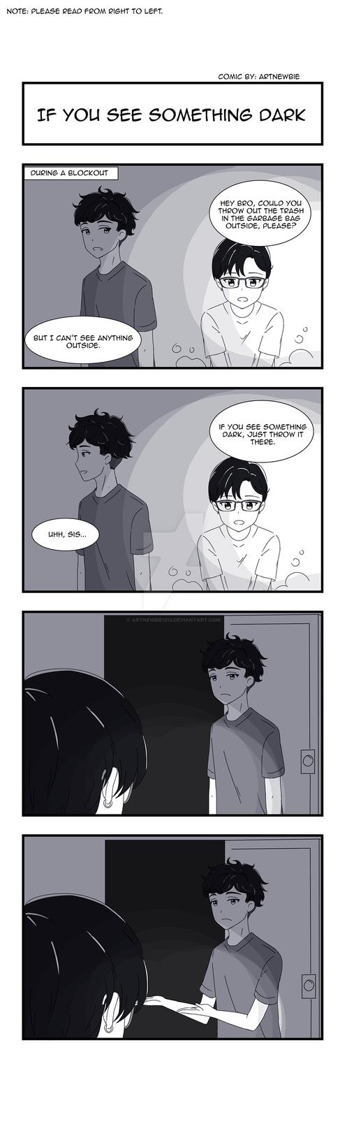 Sibling Conversations: 'If You See Something Dark' by ArtNewbie1213