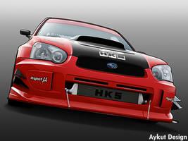 Subaru Impreza Toon by aykutfiliz