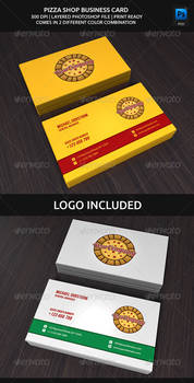 Pizza Shop Business Card