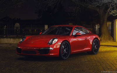 Porsche 911 Carrera S Night Scene