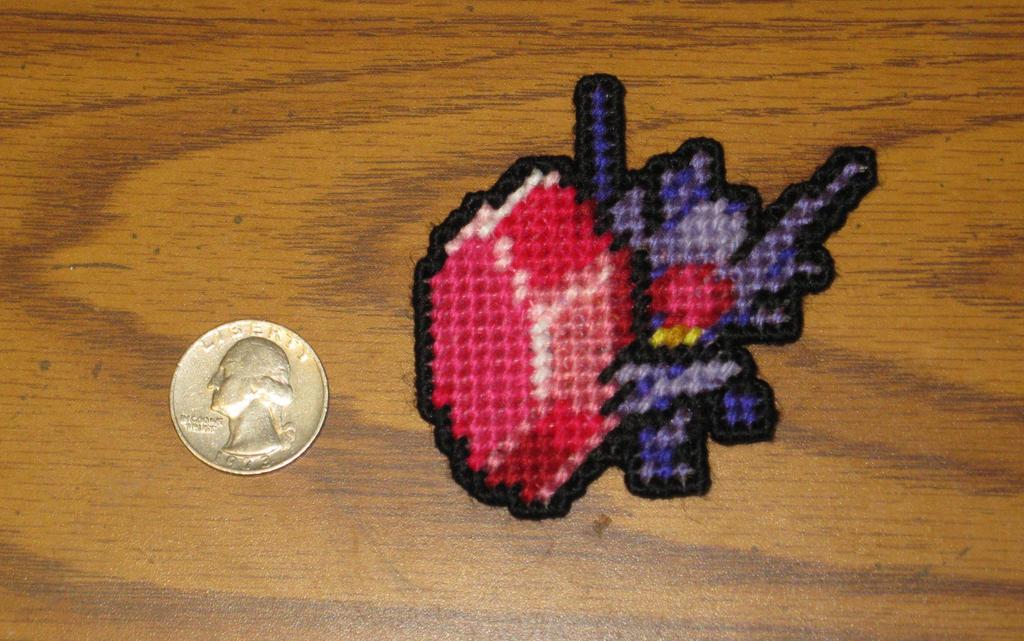 Pokemon Sprite Stitches  - Mega Sableye by UWorlds