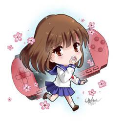Yuriko from Mikagura School Suite by kriscomics