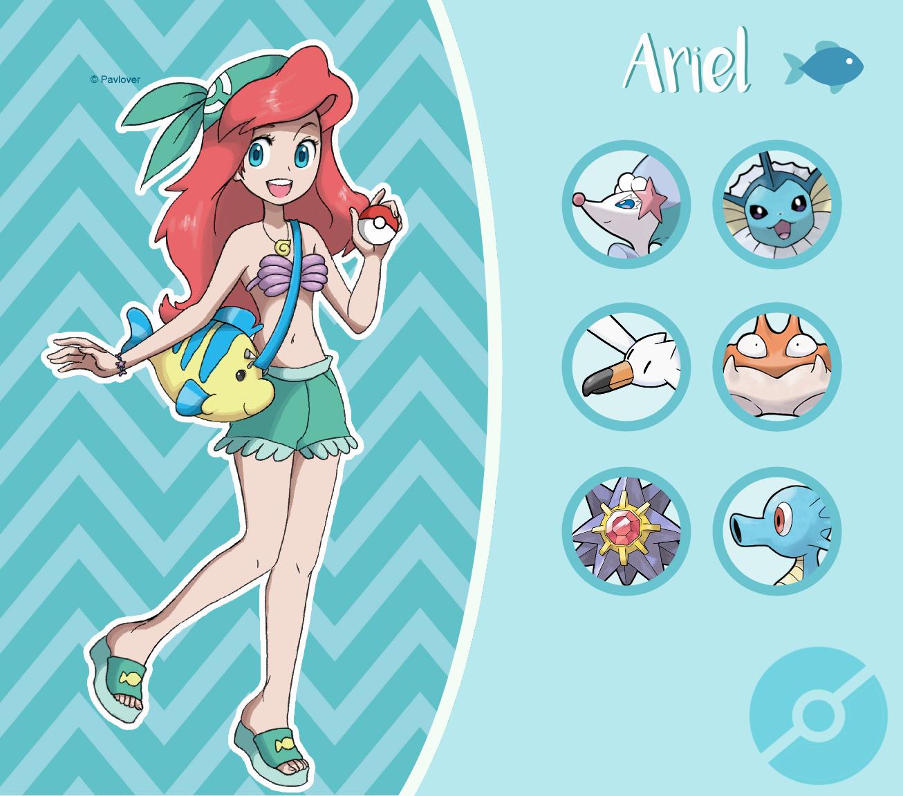 Disney Pokemon trainer : Ariel by Pavlover