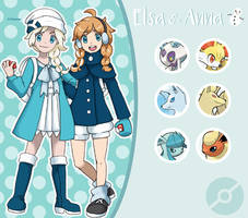Disney Pokemon trainer : Elsa and Anna