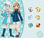 Disney Pokemon trainer : Elsa and Anna