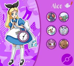 Disney Pokemon trainer : Alice by Pavlover