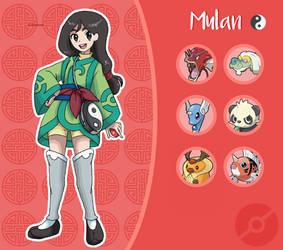 Disney Pokemon trainer : Mulan by Pavlover