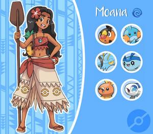 Disney Pokemon trainer : Moana