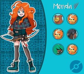 Disney Pokemon trainer : Merida by Pavlover