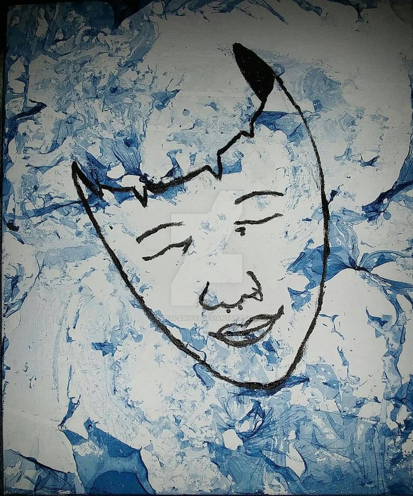 Melancholy. A Self Portrait.  by M155-B3h4v3