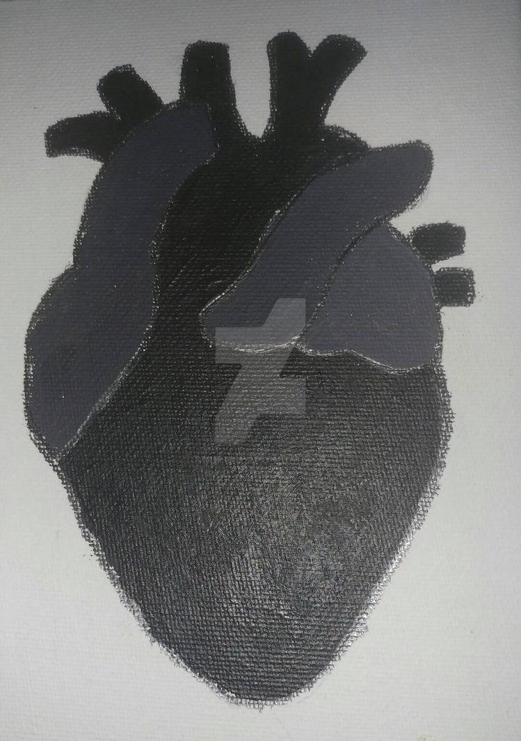 Black Heart. A Self Portrait.   by M155-B3h4v3