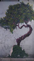 A tree painted under the wall by Nefertaery2007