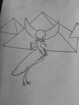 bennu bird and pyramids