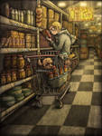 Otter in the supermarket