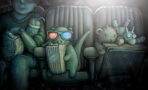 Me watching Jurassic World!
