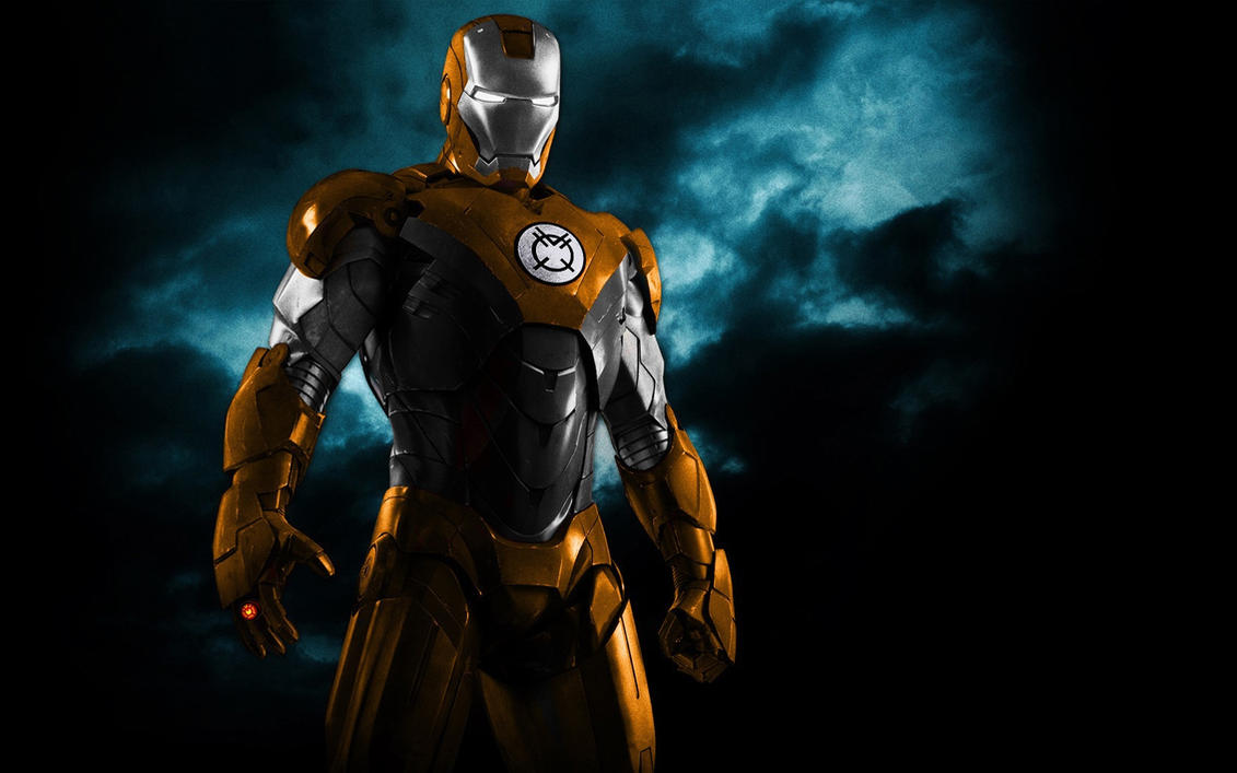 Iron Man Orange Lantern Armor by 666Darks