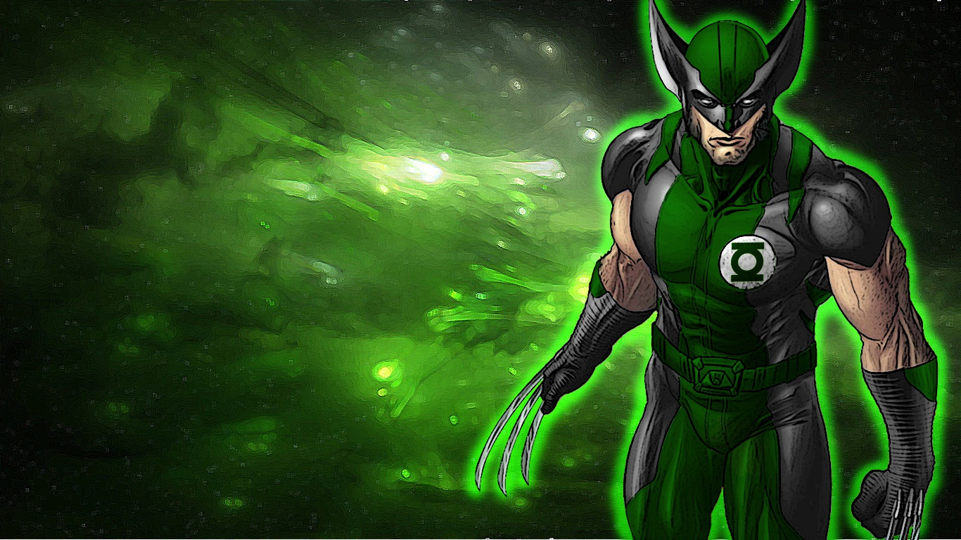 Green Lantern Wolverine by 666Darks