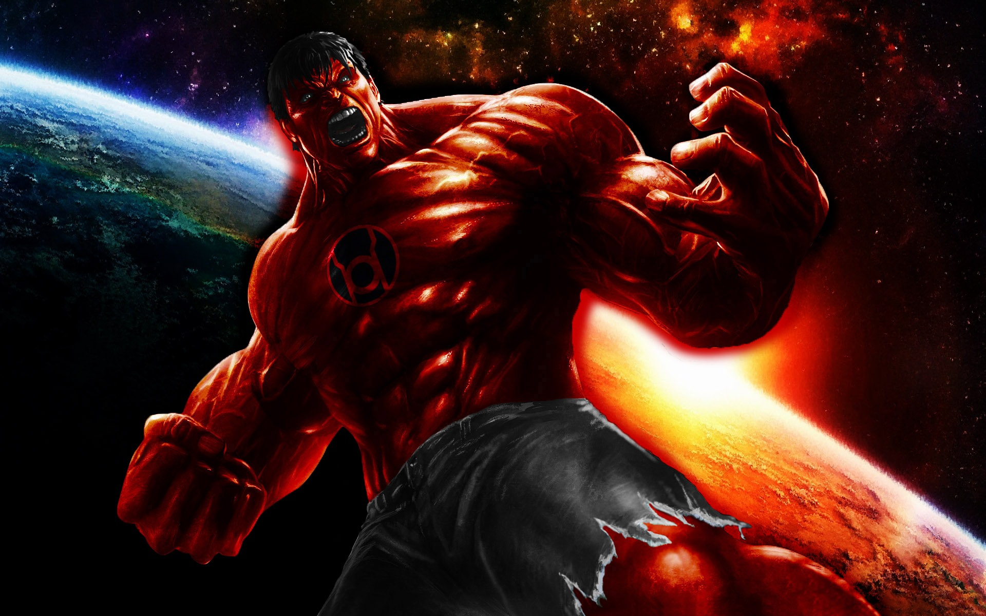 Red Lantern Hulk by 666Darks