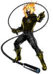Ghost Rider Yellow Lantern by 666Darks
