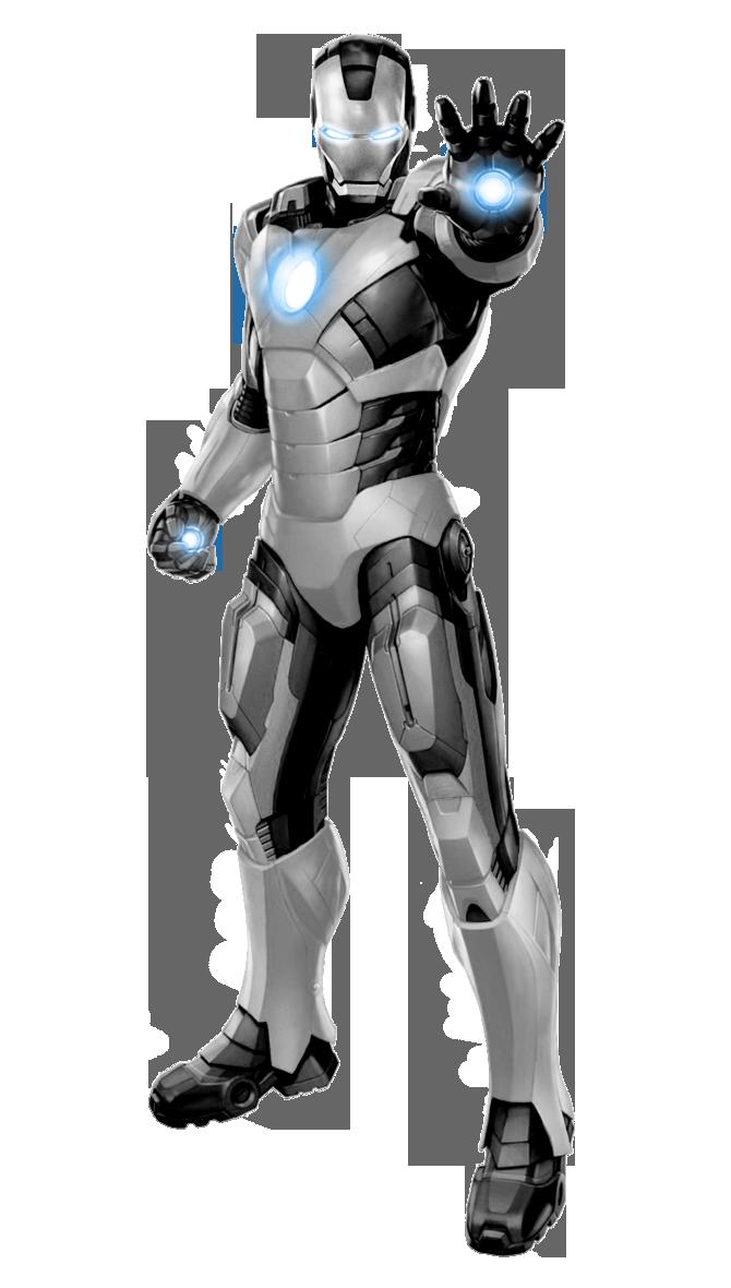 Iron Man White+Black Scheme by 666Darks