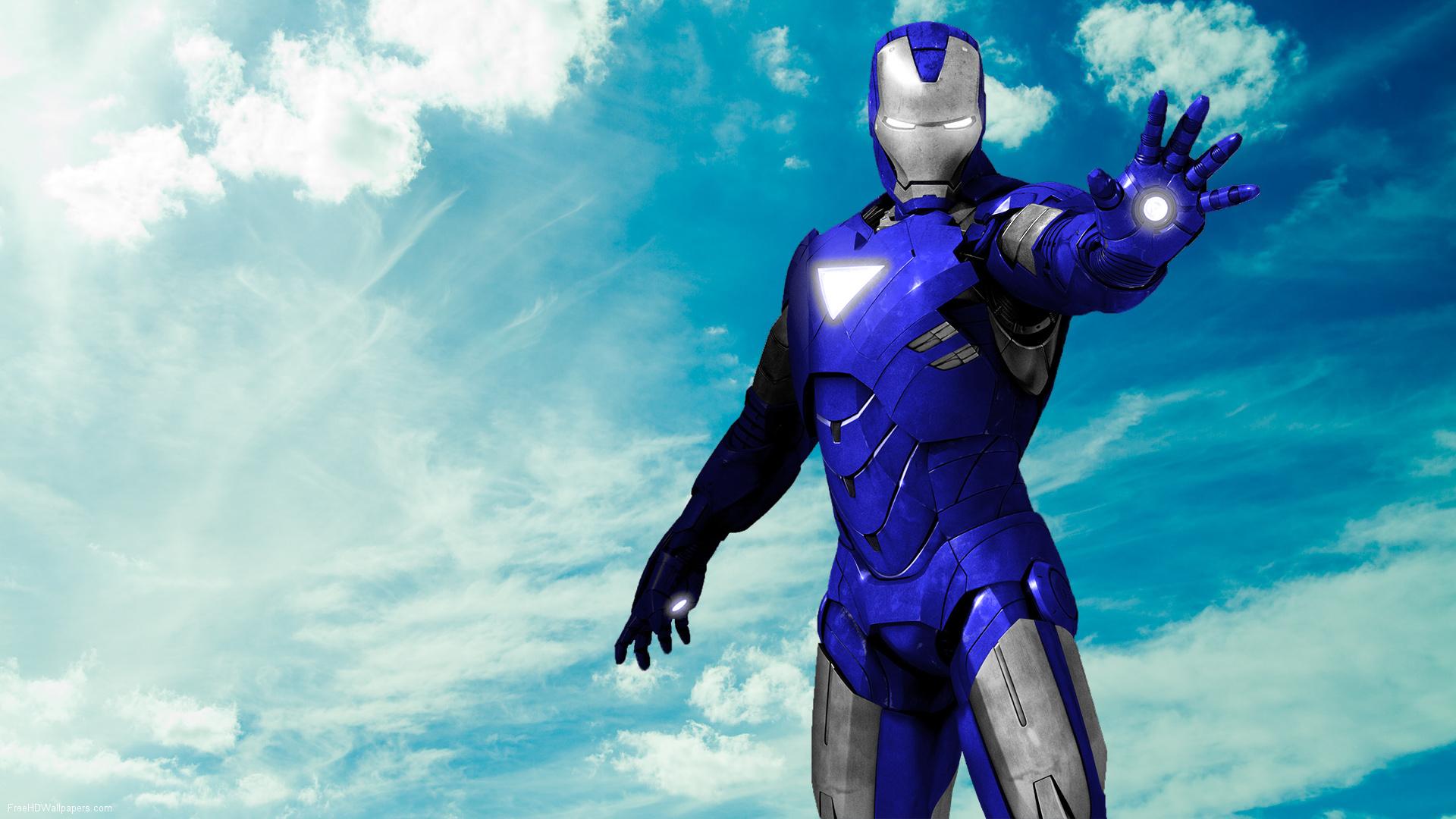Iron Man Royal Blue+Silver by 666Darks