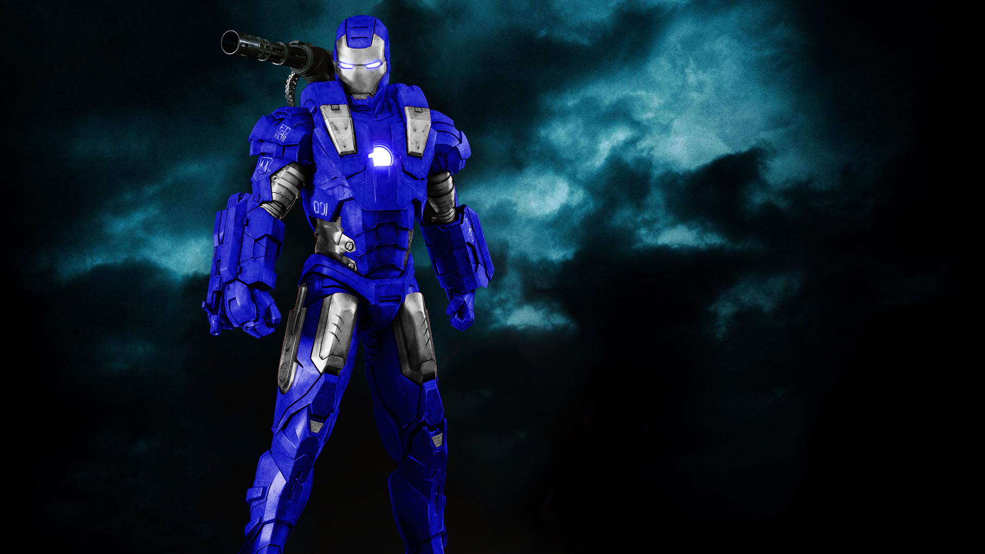 War Machine Royal Blue + Silver by 666Darks